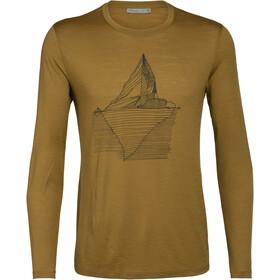 Icebreaker Tech Lite Oneberg Koszulka z długim rękawem Mężczyźni, curry